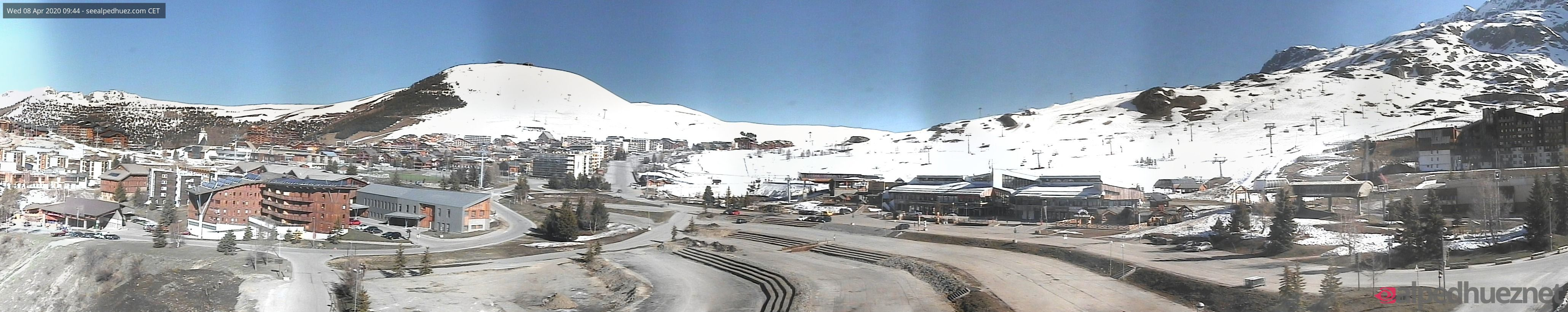 Webcam Alpes d'Huez : panoramique de la station